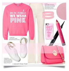 """""""I wear Pink for"""" by samira-rahimova ❤ liked on Polyvore featuring M. Gemi, Colonial Mills, Givenchy, Bobbi Brown Cosmetics, Casetify, Giambattista Valli, Hill & Friends and IWearPinkFor"""