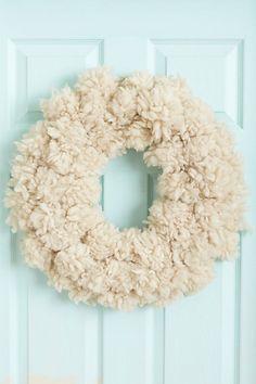 Fluffed Wool Wreath #anthropologie