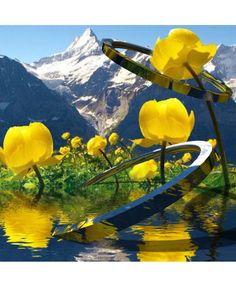 In the Alps - Diese  Collage wurde erstellt von Gerd Schremer