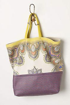 Anthropologie leather tote