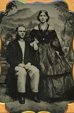 Well-to-do couple daguerreotype