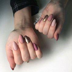 Beautiful nails color short nail designs in 2 Nails Polish, Matte Nails, Diy Nails, Acrylic Nails, Short Nail Designs, Nail Art Designs, Love Nails, Pretty Nails, Nagel Gel