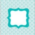 Rótulo Esmalte  Kit Toilet Banheiro Azul TIffany: