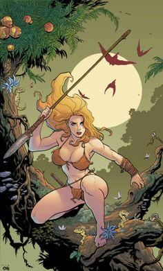 Jungle Girl - By Frank Cho