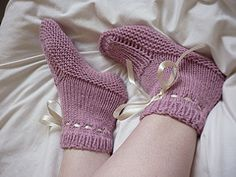 Free knitting pattern for adult slippers bedsocks knit flat and seamed! Adapted and resized for adults from a baby bootee pattern. These and more free slipper knitting patterns at http://intheloopknitting.com/free-slipper-knitting-patterns/