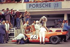 Salzburg Porsche 917 of Hans Herrmann and Richard Attwood won the 1970 Le Mans 24 Hours