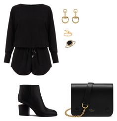 """""""Sin título #1448"""" by danareyesguido on Polyvore featuring moda, Helmut Lang, Alexander Wang, Mulberry, Gucci y Blue Nile"""