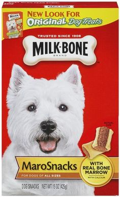 Milk-Bone, Original Dog Treats, Marrow Bone Snacks, 15-Ounce Boxes (Pack of 6) for only $18.32 You save: $5.63 (24%) + Free Shipping