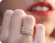 Silver Princess Set - Cute promise ring