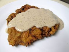 Southern comfort food at its finest: Chicken-Fried Steak with Cream Gravy! Must have pan dripping gravy! Beef Dishes, Food Dishes, Main Dishes, Beef Recipes, Cooking Recipes, Chicken Recipes, Yummy Recipes, Simple Recipes, Family Recipes