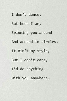 I Dont Dance c: