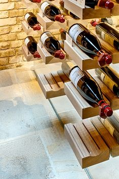 for Wine Lovers only! by Marco Fazio, via Behance Home Wine Cellars, Wine Rack Storage, Wine Cellar Design, Wine Display, Wine And Liquor, Wine Time, Wood Bars, Caves, Wine Recipes