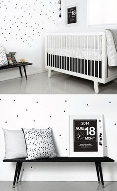 Beautiful black and white nursery.
