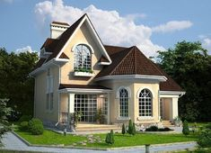 40 Trendy house american style home plans Bungalow Style House, Cottage Style Homes, Tiny House Exterior, Exterior House Colors, Style At Home, House Structure Design, House Design Pictures, Castle House, Craftsman House Plans