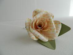 Paper Rose Buttonhole £6.00