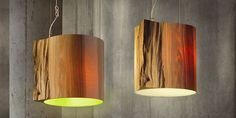 Originelle Design Holz-Pendelleuchte WISE ONE by Ieva Kaleja mammalampa Interior Lighting, Lighting Design, Luminaire Suspension Design, Recycled Christmas Tree, Wood Logs, Wooden Lamp, Decorate Your Room, Ceiling Lamp, Pendant Lighting