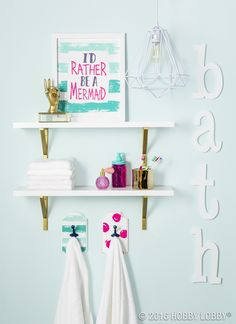 Add a splash of color to your everyday bathroom decor!