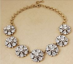 2014 Free shipping jc  Luxury Jewelry CIRCULAR PETALS Bib Beaded Statement Necklace costume wedding party Queen $22,42