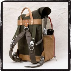 Leather/Canvas Backpack // Upcycled and Handmade by peace4youBAGS, $398.00