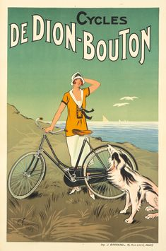Felix Fournery, poster for Dion-Bouton bicycles, 1925. Paris. Source. Credence has been given to the theory that the bicycle contributed in large part to the suffrage movement of the late 19th century, allowing women a degree of freedom they had not be previously offered.