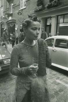 Björk at the Sign of the Times Covent Garden shop opening, wearing Stuart Alexander and Jo Bates, 1994 photographed by Jeremy Deller