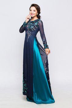 Gợi ý mẫu áo dài làm sui đẹp 2017