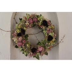 母の日 ナチュラルリース(アンティークピンク系)  限定3個 - deuxR - Natural Flower - ドライフラワー,リース,花材販売,