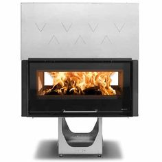 La Nordica Crystal 100 Double Sided Hybrid Wood Burning Built-In Stove - Flat Sliding Doors