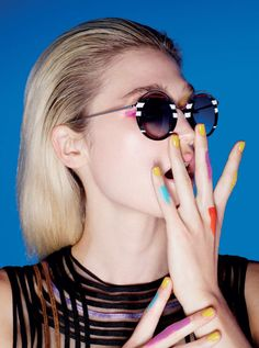 Nail Trends: SHADES OF SUMMER Nail Trends, Round Sunglasses, Shades, Nails, Summer, Fashion, Finger Nails, Moda, Summer Time