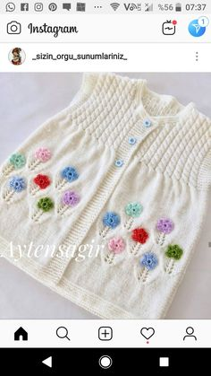 Baby Knitting Patterns, Knitting Designs, Wool Sweaters, Baby Items, Diy And Crafts, Pullover, Instagram, Fashion, Baby Coming Home Outfit