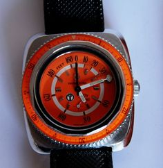 Farve-Leuba bathy 160 awesome orange watch.