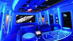 Amazing Star Wars home theater, complete with life-size R2-D2 and C-3PO replicas that talk to the audience.