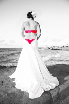 Bridal Boudoir. White on the outside, Red on the Inside.