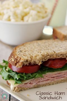 Classic Ham Sandwich - perfect for lunch or a quick dinner! #sandwiches #ham #ad by lovebakesgoodcakes, via Flickr