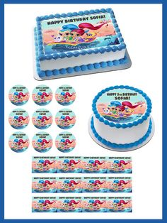 Shimmer and Shine Edible Birthday Cake Topper OR Cupcake Topper 3e3941fae5a21