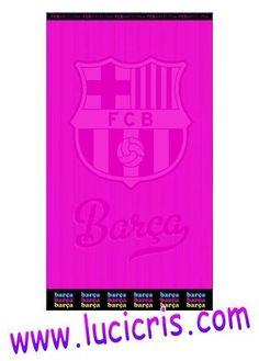 Toalla FC BARCELONA Fucsia 100x170cm