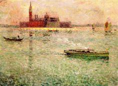 The Athenaeum - San Giorgio Maggiore, Venice (Henri Le Sidaner - )