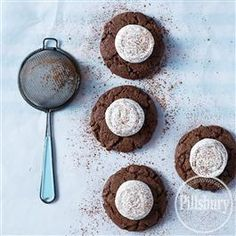 Turn your favorite winter drink into dessert with this recipe for Hot Chocolate Marshmallow Cookies from Pillsbury® Baking.