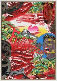 Architecture and Design Japanese Pop Art, Japanese Poster, Japanese Graphic Design, Japan Illustration, Art Pop, Tadanori Yokoo, Graffiti, Kunst Poster, Art Plastique