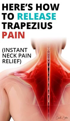 Trapezius pain can be very painful and frustrating. Upper trapezius pain can come out of nowhere when sleeping. Once trigged it can radiate down to the mid and lower back and cause intense neck pain. In this post, I'll show you how to get relief from trapezius pain with neck stretches, and neck self-massage techniques so you can feel better soon. Neck And Shoulder Stretches, Neck And Shoulder Pain, Neck And Back Pain, Neck Stretches, Severe Neck Pain, Upper Back Stretches, Shoulder Massage, Shoulder Pain Relief, Neck Pain Relief