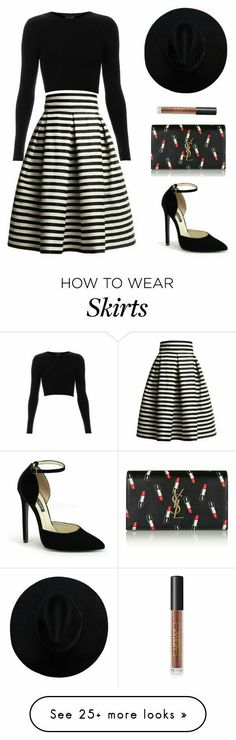 How to wear skirts featuring Rumour London, Topshop, Yves Saint Laurent and Lipstick Queen Fashion Mode, Work Fashion, Womens Fashion, Fashion Trends, Style Fashion, Queen Fashion, Mode Outfits, Casual Outfits, Fashion Outfits