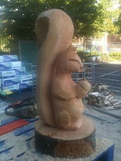 squirell chainsaw carving | Flickr - Photo Sharing!