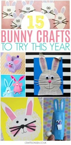 Need some Easter bunny crafts for kids? We've got all the inspiration you need with the cutest and coolest rabbit crafts out there with ideas for all ages from preschoolers up! Doily bunnies, pop up bunnies, newspaper bunnies and of course paper plates plus even a cool shape activity bunnies for younger kids. #kidscraft #easter #easterbunny #kidsactivities