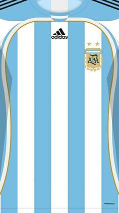 Argentina kit home Soccer Kits, Football Kits, Sport Football, Football Jerseys, Team Wallpaper, Football Wallpaper, Jersey Fashion, Club America, International Teams