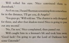 One of my favorite parts of the book Trials of Apollo!!!!! <3
