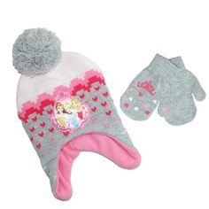 Disney Infant   Toddler s Princess Hat and Mitten Winter Set 93f1981ec553