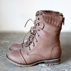 in the woods ankle sweater boots taupe – shophearts