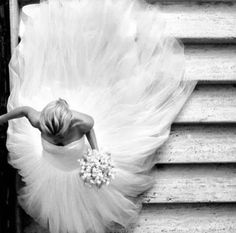 "Beautiful photo of the bride on her way to say ""I Do"""