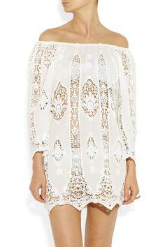 Miguelina Bridgitte lace and cotton tunic NET-A-PORTER.COM