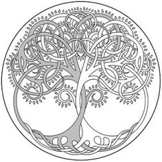 Irish Tattoo Designs - Tree of Life Design - body art Celtic Symbols, Celtic Art, Celtic Knots, Mayan Symbols, Egyptian Symbols, Ancient Symbols, Celtic Patterns, Celtic Designs, Tattoo Painting